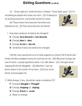 4th Grade Editing Practice (4.15D-R)