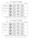 4th Grade Elementary Art Self-Assessment Rubric