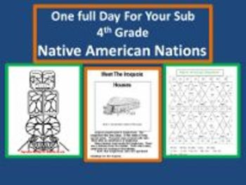 Native American Nations - Common Core Aligned Full Day For Your Sub
