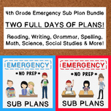 4th Grade Emergency Sub Plan Bundle (2 FULL days!)