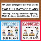 4th Grade Emergency Sub Plan Bundle (2 FULL days!)