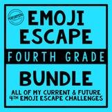 4th Grade Emoji Escape Bundle
