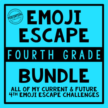 4th Grade Emoji Escape Bundle