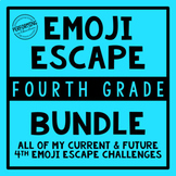 4th Grade Escape Game Bundle | Math and Reading Review