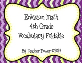 4th Grade EnVision Math Topics 1-10 Vocabulary Foldable