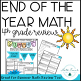 4th Grade End Of The Year Math Review