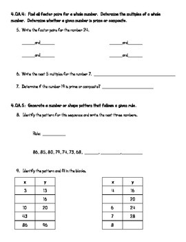 4th Grade End of Year Exam