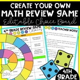 4th Grade End of Year Game Choice Board
