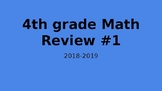 4th Grade End of Year Math Review #1