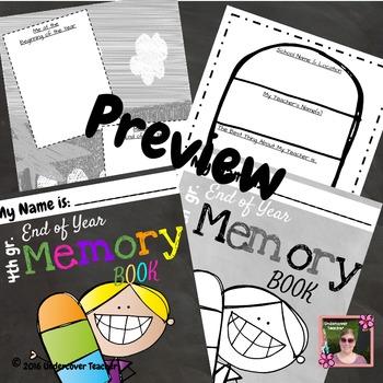 4th Grade End of Year Memory Book - No Prep