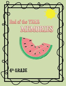 4th Grade End of the Year Booklet
