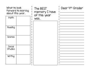 4th Grade End of the Year Brochure