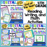 4th Grade End of the Year Distance Learning Reading, Writi