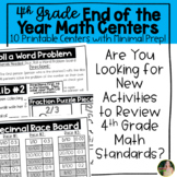 4th Grade End of the Year Math Centers