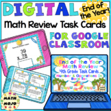 4th Grade End of the Year Math Digital Task Cards: 4th Grade (NBT Standards)