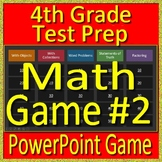 4th Grade End of the Year Math Game + Test Prep Operations + Algebraic Thinking