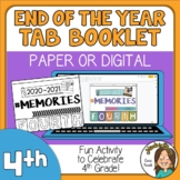 4th Grade End of the Year Memory Activity 2021 Print or Di
