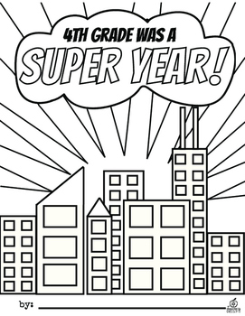 4th Grade End of the Year Memory Book & Craft {Superhero Themed}