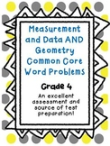 4th Grade Math Journal: CCSS Measurement and Data AND Geom