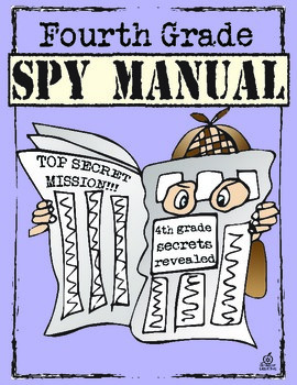 End of the Year Memory Book: 4th Grade Spy Manual Theme