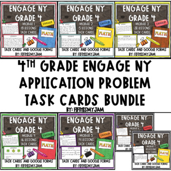 4th Grade Engage NY Application Problem Task Card Bundle (Modules 1-7)
