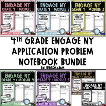 4th Grade Engage NY Application Problem Workbook Bundle (Modules 1 - 7)