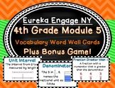 4th Grade Engage NY Eureka Math Module 5 Vocabulary Cards and Bonus Game