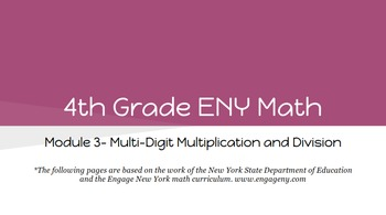 4th Grade Engage NY Math Module 3 (Bundle)