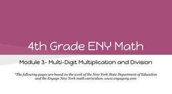 4th Grade Engage NY Math Module 3 Topic B- Lessons 4 -6 (Bundle)