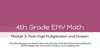 4th Grade Engage NY Math Module 3 Topic F- Lessons 22 - 25