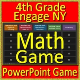4th Grade Engage NY Math Test Prep - Jeopardy Style Math Game for PowerPoint