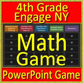 4th Grade Engage NY Math Test Prep Jeopardy Style Math Game For PowerPoint