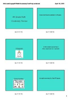 4th Grade Engage NY Math Vocabulary Review