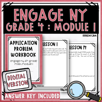 4th Grade Engage NY Module 1 Application Problem Workbook