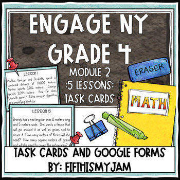 4th Grade Engage NY Module 2 Application Problem Task Cards
