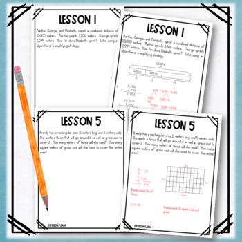 4th Grade Engage NY Module 2 Application Problem Workbook