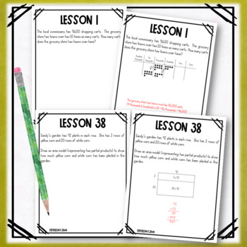 4th Grade Engage NY Module 3 Application Problem Workbook
