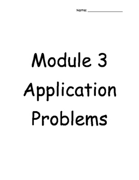 4th Grade Engage NY Module 3 Application Problems