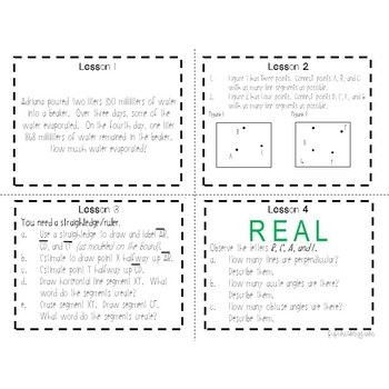 4th Grade Engage NY Module 4 Application Problem Task Cards