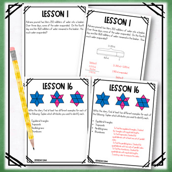 4th Grade Engage NY Module 4 Application Problem Workbook