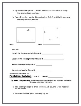 4th Grade: Engage NY Module 4 Application Problems, Read:Draw:Write Template