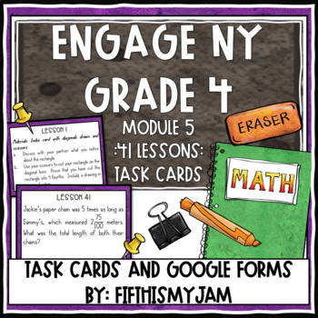 4th Grade Engage NY Module 5 Application Problem Task Cards