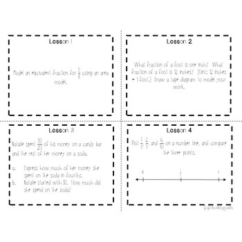 4th Grade Engage NY Module 7 Application Problem Task Cards