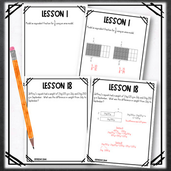 4th Grade Engage NY Module 7 Application Problem Workbook