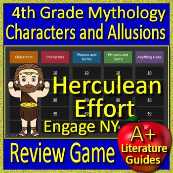 4th Grade Engage NY ELA Test Prep Greek Mythology Allusions Review Game