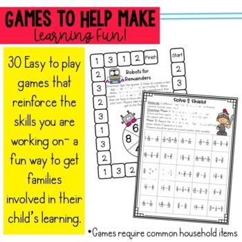 4th Grade Engage New York Parent Letters & Games BUNDLE