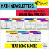 4th Grade Engage New York Parent Letters & Games BUNDLE