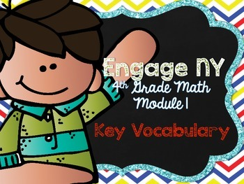 4th Grade EngageNY/Eureka Math - Module 1 Key Vocabulary Definition Posters