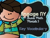4th Grade EngageNY/Eureka Math - Module 3 Key Vocabulary Definition Posters