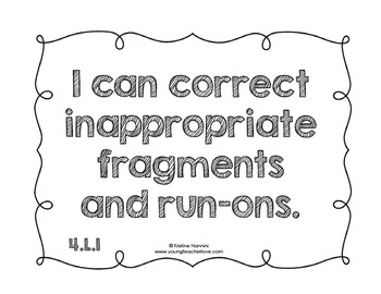 4th Grade English Language Arts I Can & We Can Statement Posters {Kid Language}